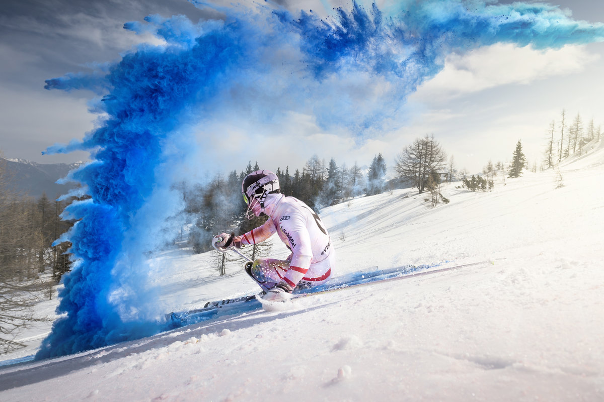 marcel-hirscher-skiing-through-colour-cloud