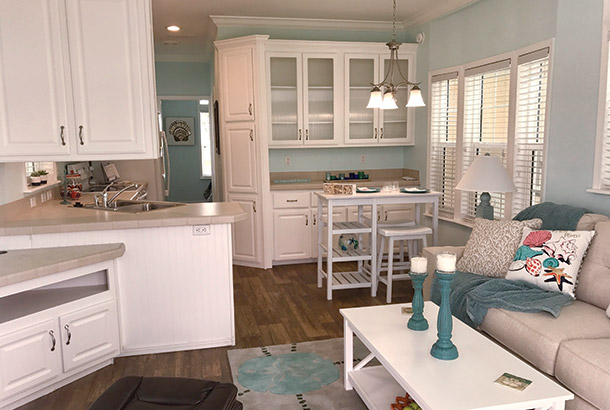 Ocean Breeze Home Sale Seashore Model Kitchen View