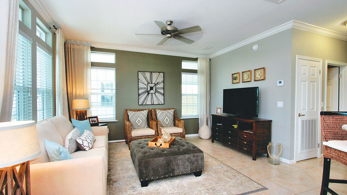 Ocean Breeze Model Home Living Room View