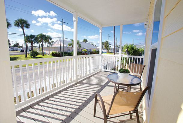 Ocean Breeze Home Sale Sand Dollar Model Front Deck View