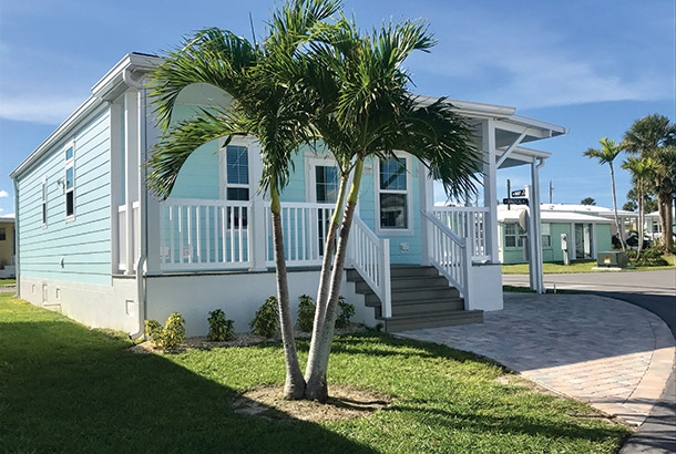 Ocean Breeze Home Sale Intracoastal Model Exterior View
