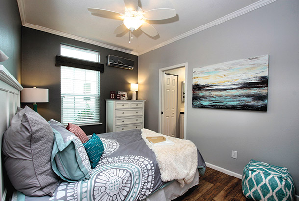 Ocean Breeze Bayside Model Home Bedroom View