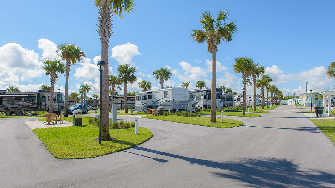 Ocean Breeze Resort RV Site View