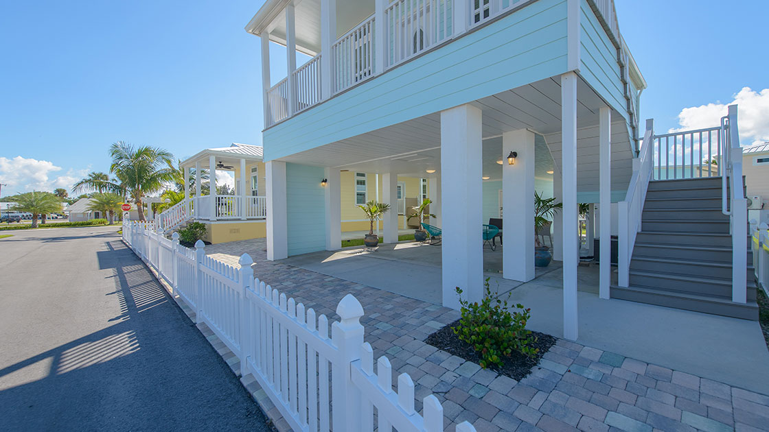 Ocean Breeze Resort Key West Style Model Home View