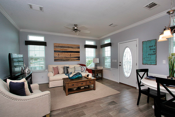 Ocean Breeze Home Sale Intracoastal Model Living Room View
