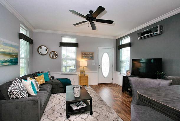 Ocean Breeze Bayside Model Home Livingroom View
