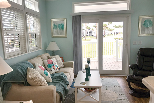 Ocean Breeze Home Sale Seashore Model Living Room View