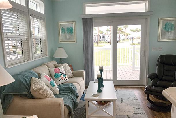 Ocean Breeze Home Sale Seashore Model Living Room View