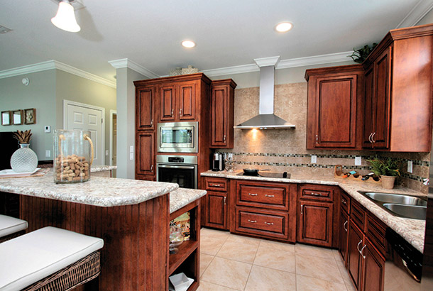 Ocean Breeze Home Sale Sand Dollar Model Kitchen View