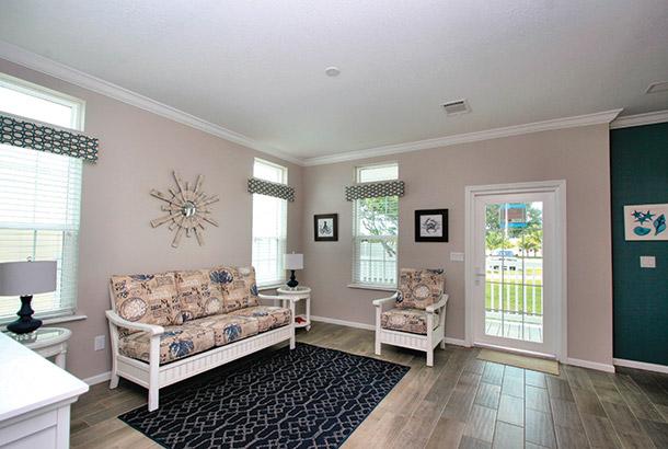 Ocean Breeze Home Sale Seascape Model Living Room View