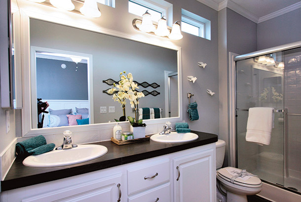 Ocean Breeze Bayside Model Home Bathroom View