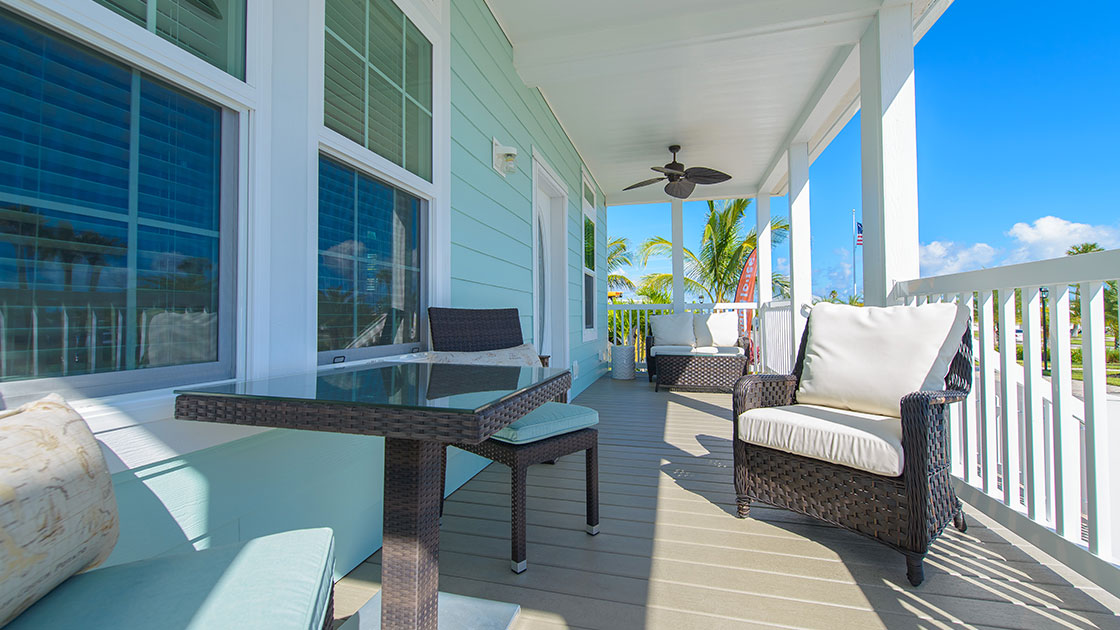 Ocean Breeze Model Home Front Deck View