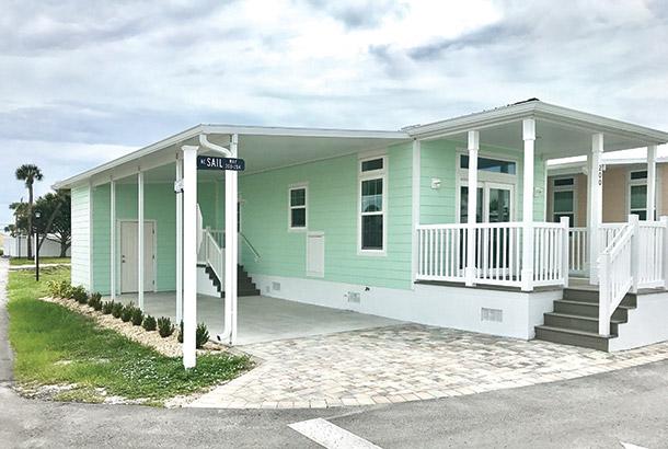 Ocean Breeze Home Sale Seashore Model Exterior View