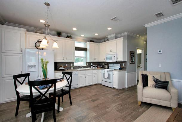 Ocean Breeze Home Sale Intracoastal Model Open Kitchen & Dinning Area View