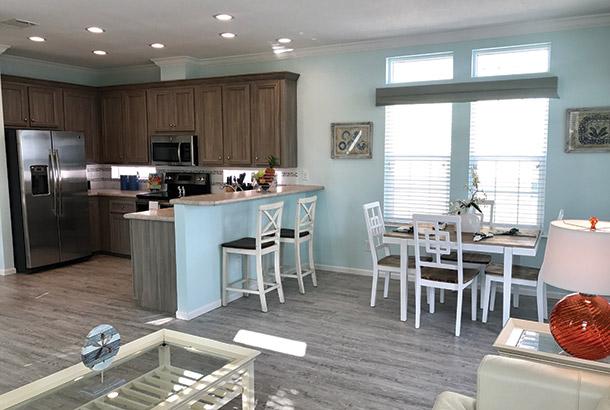 Ocean Breeze Home Sale Beachcomer Model Kitchen View