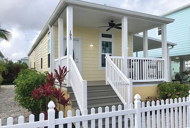 Ocean Breeze Home Sales Bayside Model Exterior View