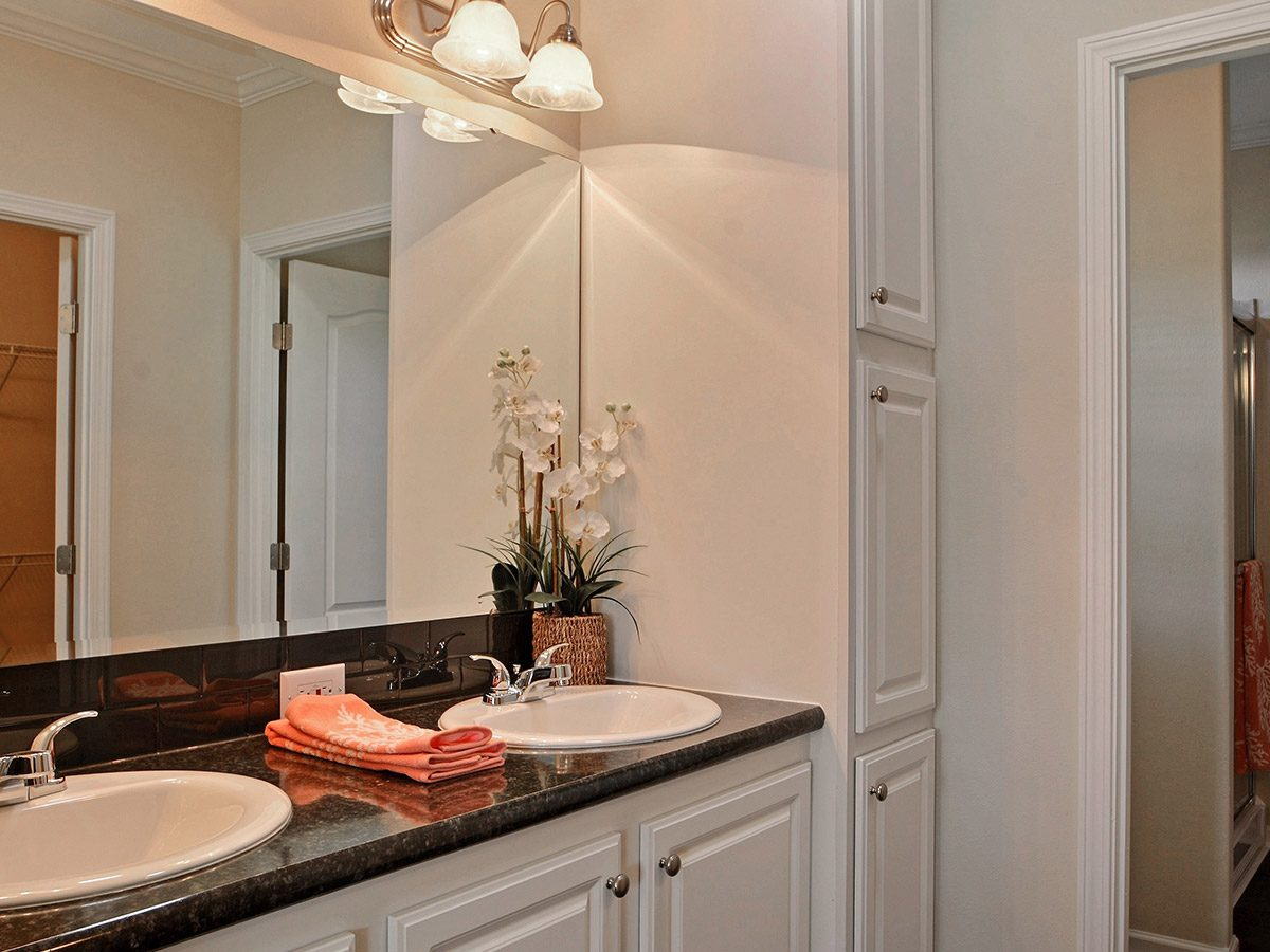 Water Oaks Home Sales Cape Coral Model Bathroom View