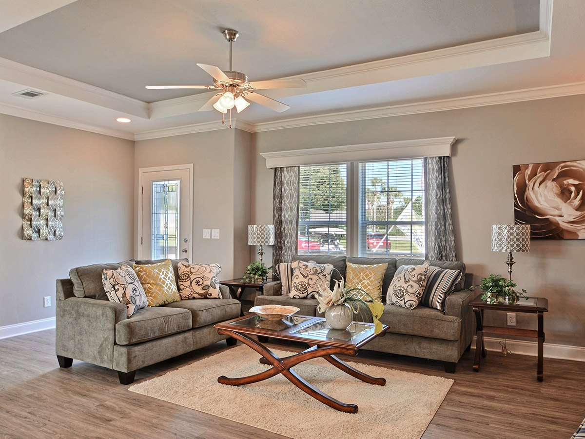Water Oaks Home Sales Nautilus Model Living Room View