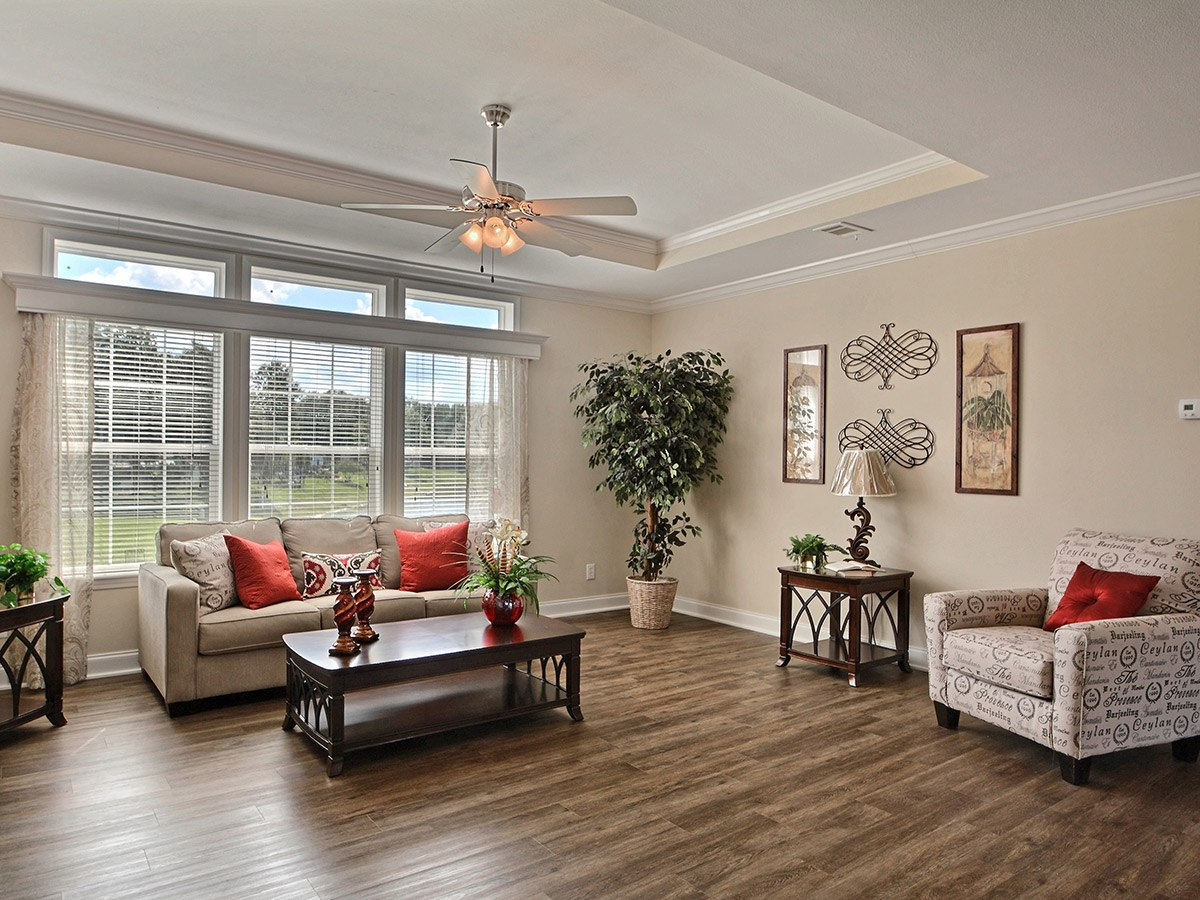 Water Oaks Home Sales Admiral Model Living Room View