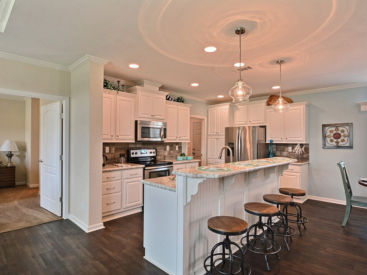 Water Oaks Home Sales Cape Coral Model Kitchen View