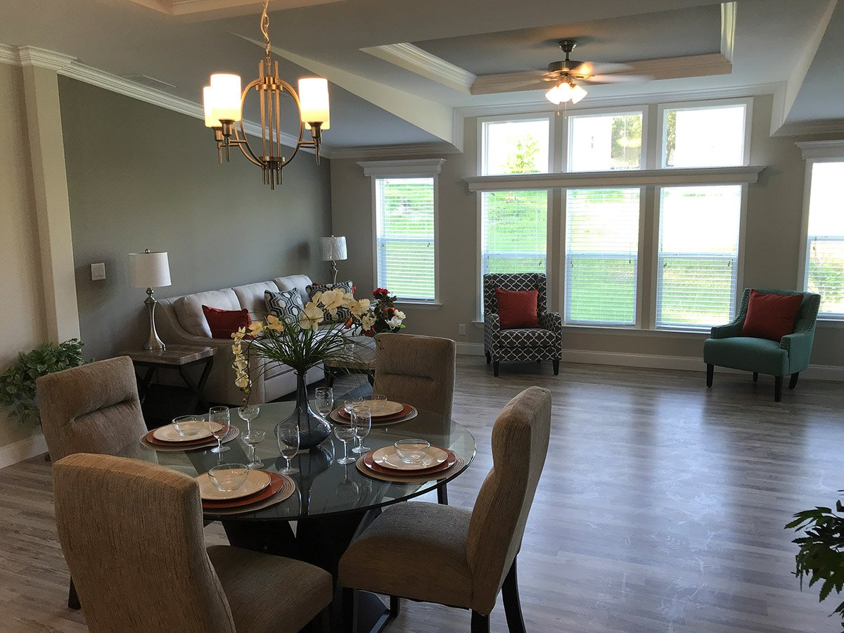 Water Oaks Home Sales Wellington Model Dinning Room