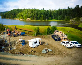Rig up area