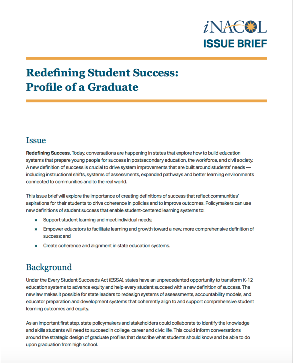 Redefining Student Success Profile of a Graduate