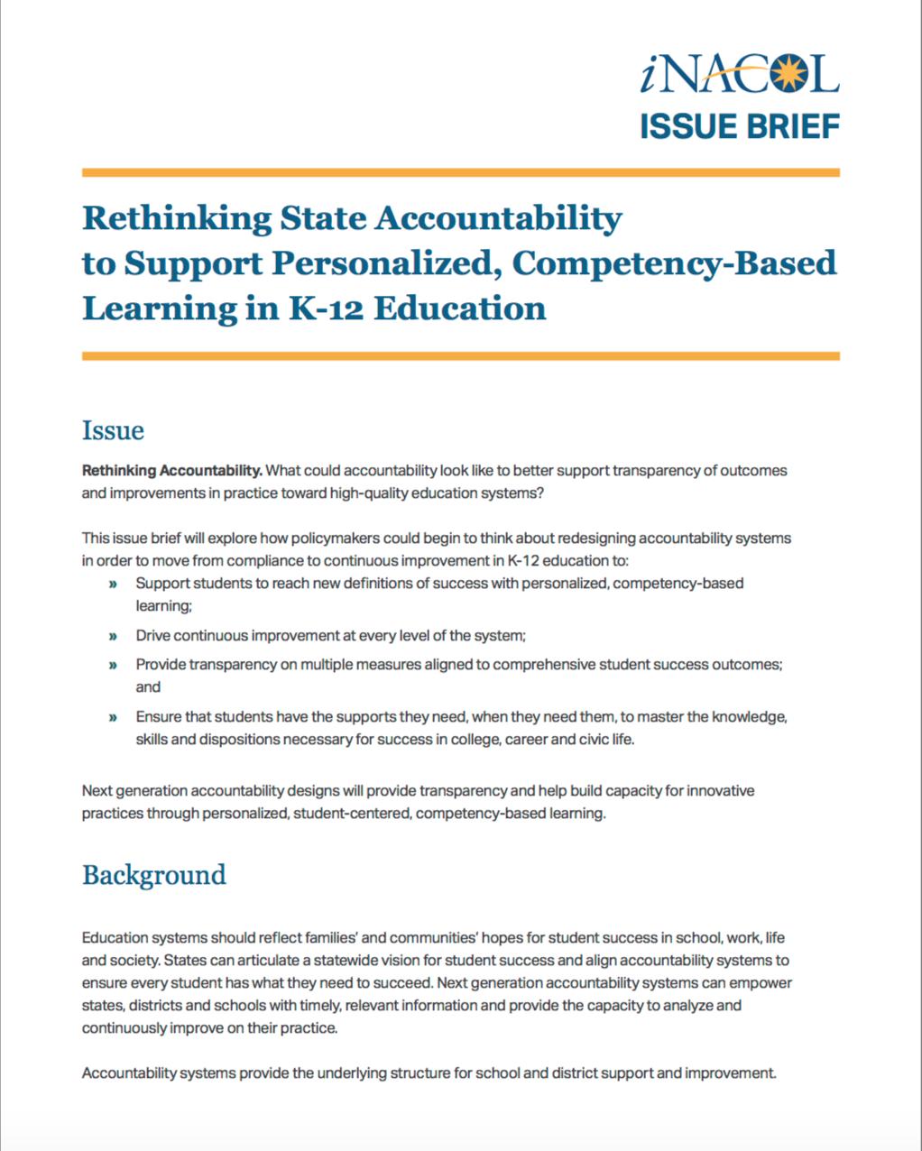 Rethinking State Accountability