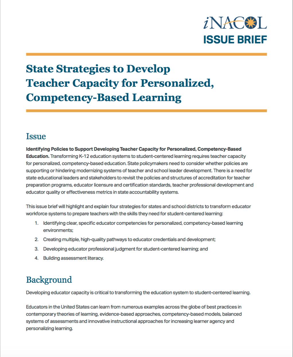 Educator Capacity Issue Brief
