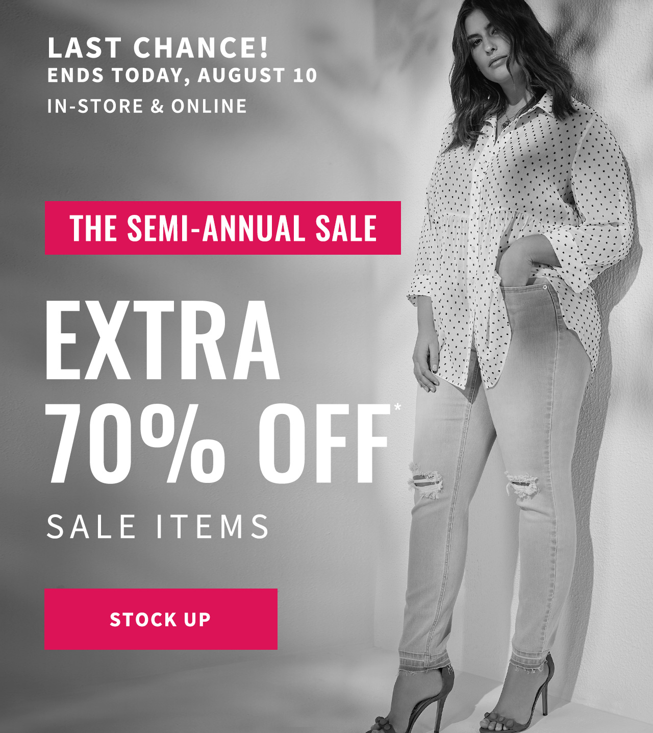 Extra 70% off* sale items.