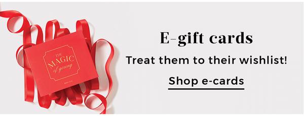 E-gift cards | Shop e-cards