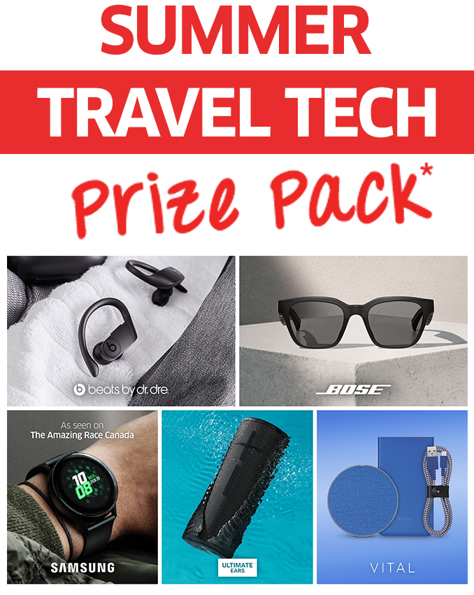 Summer Travel Tech Prize Pack