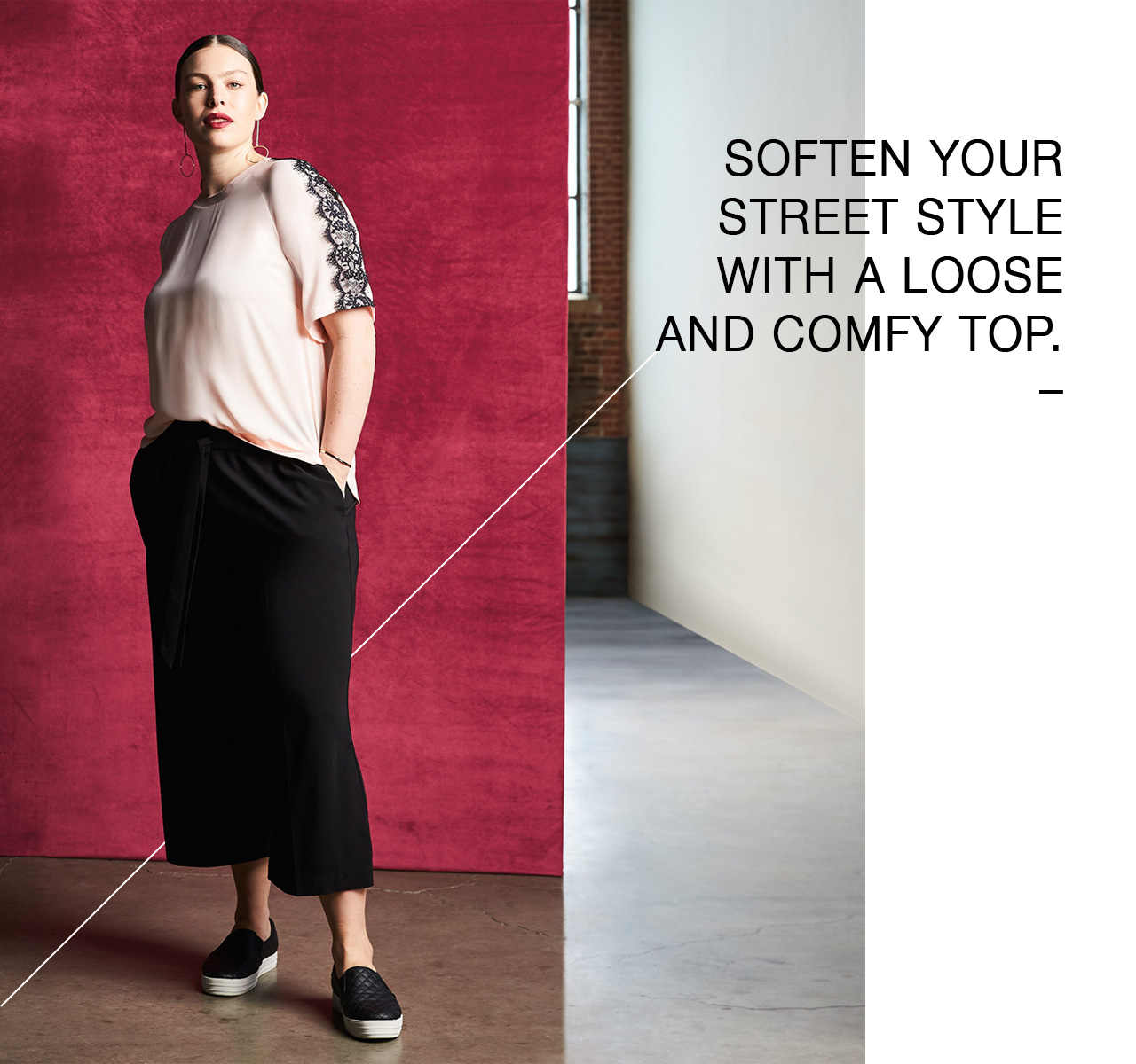 Soften your street style with a loose and comfy top.